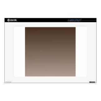 H Linear Gradient - Dark Brown to Light Brown Laptop Decals