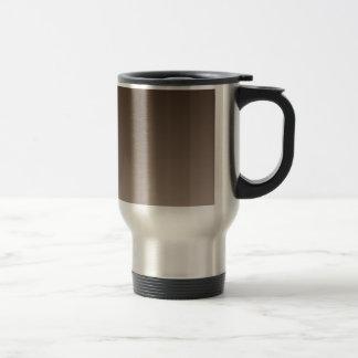 H Linear Gradient - Dark Brown to Light Brown Travel Mug