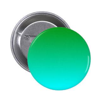 H Linear Gradient - Green to Cyan Pinback Button