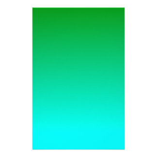 H Linear Gradient - Green to Cyan Stationery