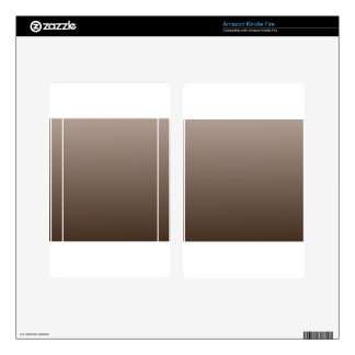 H Linear Gradient - Light Brown to Dark Brown Kindle Fire Decals