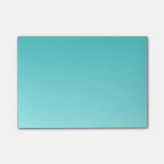 H Linear Gradient - Turquoise to Light Cyan Post-it Notes