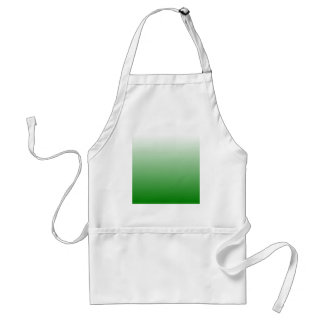H Linear Gradient - White to Green Apron