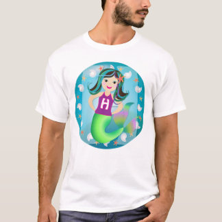 """H"" logo mermaid girls T T-Shirt"