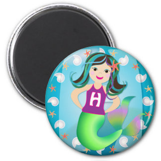 """H"" logo mermaid magnet"
