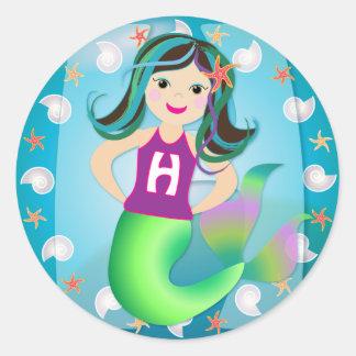 """H"" logo mermaid sticker"