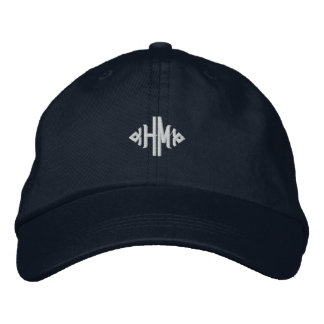 H.M. Monogram Embroidered Baseball Hat