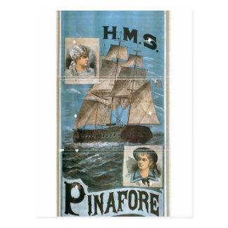H.M.S. Pinafore Retro Theater Postcard