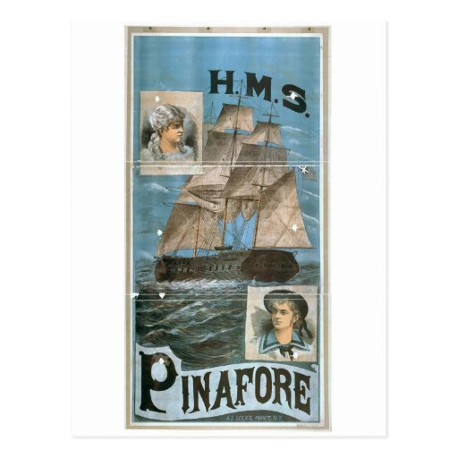 H.M.S. Pinafore Retro Theater Postcards