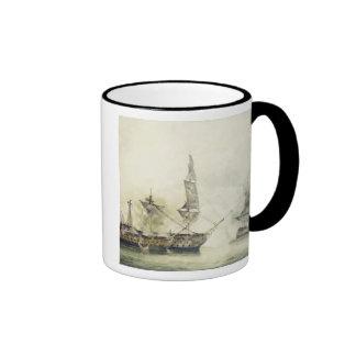 H.M.S. Victoria en la batalla de Trafalgar, 1805,  Tazas De Café