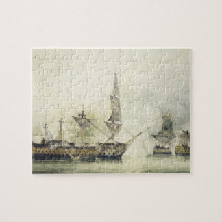 H.M.S. Victory at the Battle of Trafalgar, 1805, ( Jigsaw Puzzle