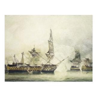 H.M.S. Victory at the Battle of Trafalgar, 1805, ( Postcard
