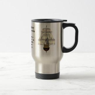H.M.S. Victory Warship 15 Oz Stainless Steel Travel Mug