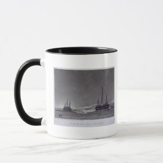 H.M. Ships Hecla & Griper in Winter Harbour, from Mug