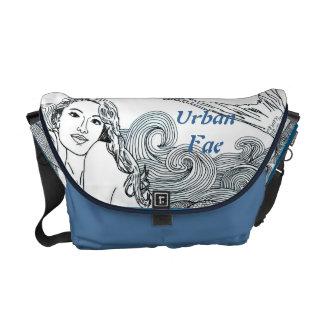 """H Messenger Bag """"Curly Wave Mermaid"""""""