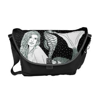 "H Messenger Bag ""SeaHorse Sirena"""