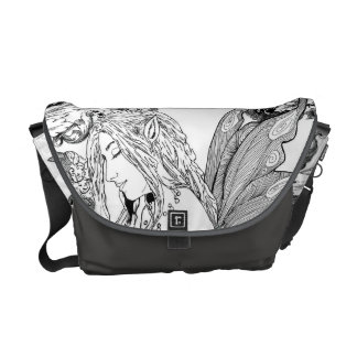 H Messenger Bag URBAN FAE Peony Fairy