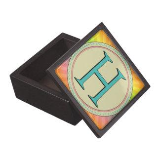 H MONOGRAM LETTER PREMIUM KEEPSAKE BOXES