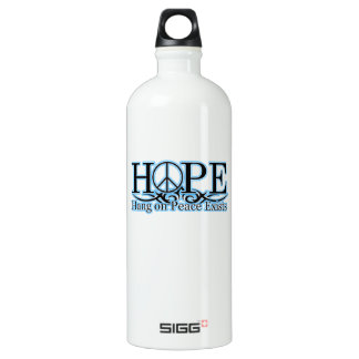 H.O.P.E - Hang On Peace Exists Aluminum Water Bottle