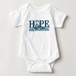 H.O.P.E - Hang On Peace Exists Baby Bodysuit