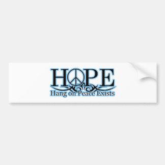 H.O.P.E - Hang On Peace Exists Bumper Sticker