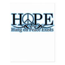 H.O.P.E - Hang On Peace Exists Postcard