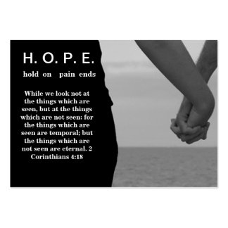 H.O.P.E.  Hold On Pain Ends Large Business Card