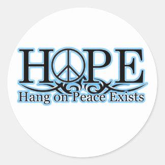 H.O.P.E - La caída en paz existe Pegatina Redonda
