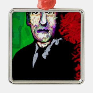 H.P.Lovecraft 1939 Adorno Navideño Cuadrado De Metal
