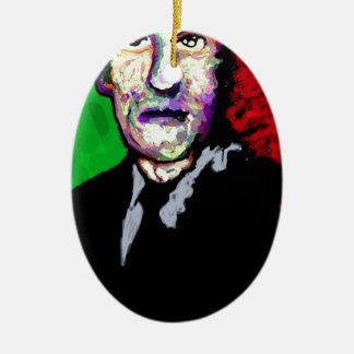 H.P.Lovecraft 1939 Adorno Navideño Ovalado De Cerámica