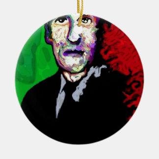 H.P.Lovecraft 1939 Adorno Navideño Redondo De Cerámica