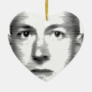 H.P.Lovecraft Adorno Navideño De Cerámica En Forma De Corazón