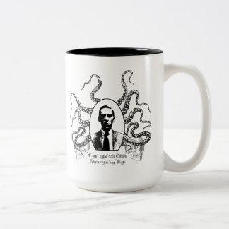 H.P. Lovecraft Mug de la condenación Taza Dos Tonos