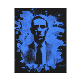 H.P. Lovecraft of tributes (blue) Canvas Print