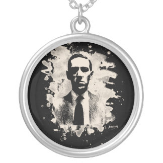 H.P. Lovecraft of tributes Silver Plated Necklace