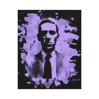 H.P. Lovecraft of tributes (violet) Canvas Print