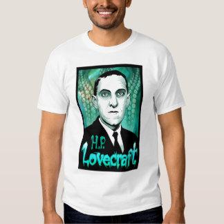 H.P. Lovecraft portrait (aqua) Tshirts