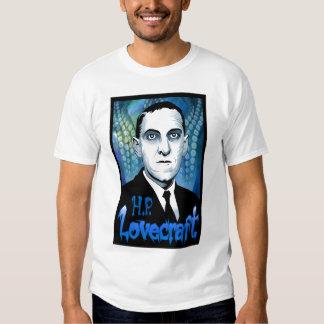 H.P. Lovecraft portrait (blue) T-shirts