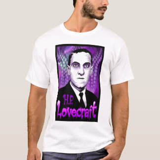 H.P. Lovecraft portrait (purple) T-Shirt