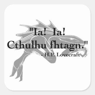 H.P. Pegatinas de la cita de Lovecraft Calcomania Cuadradas Personalizadas