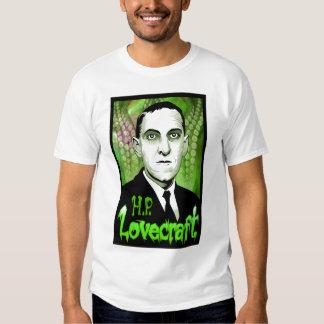 H.P. Retrato de Lovecraft (verde) Camisas
