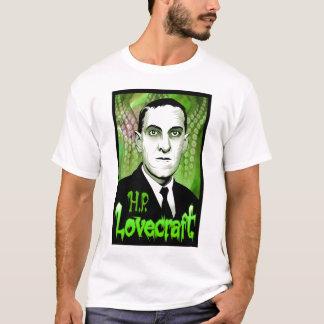 H.P. Retrato de Lovecraft (verde) Playera