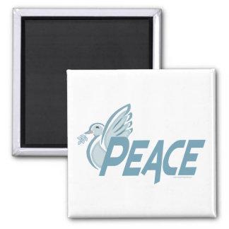 H - Paloma de la paz Imán Cuadrado