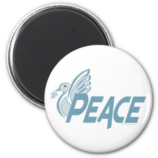 H - Paloma de la paz Imán Redondo 5 Cm
