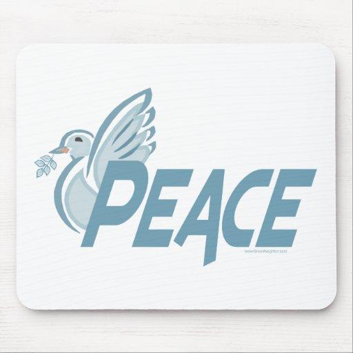 H - Paloma de la paz Tapete De Ratón