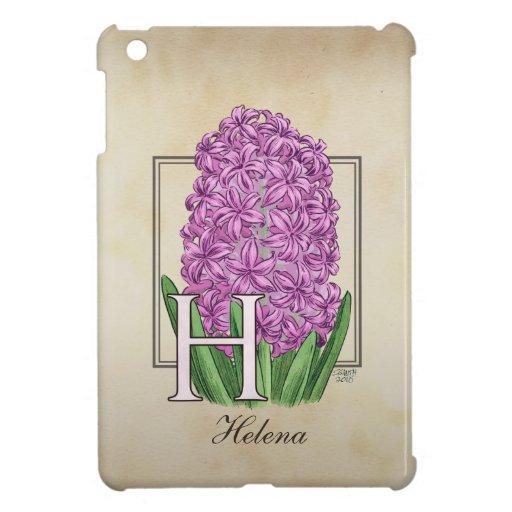 H para el monograma floral de los jacintos