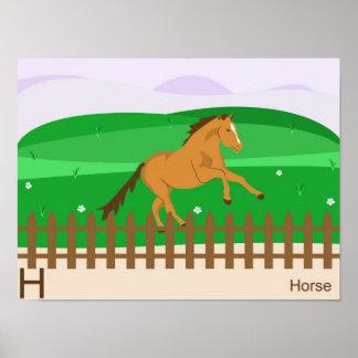 H para el poster del caballo