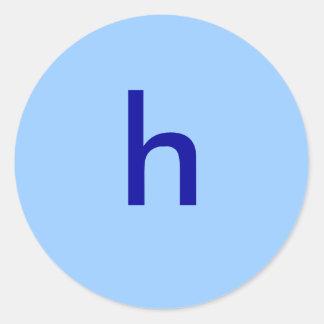 h pegatina redonda