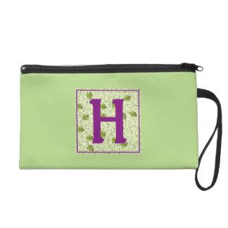 H-Spring Green Floral Wristlet