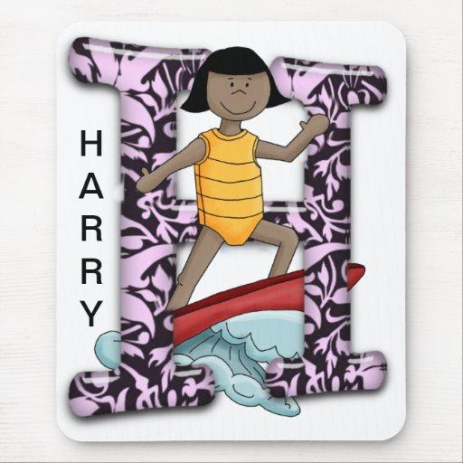 H Surfer Mouse Pad